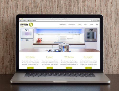 Schön eingerichtet: Die neue Hartleb Webseite