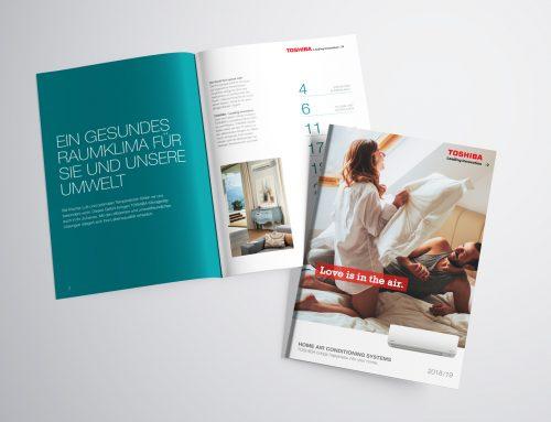 Print besteht: Produktkataloge für Toshiba Klimaanlagen