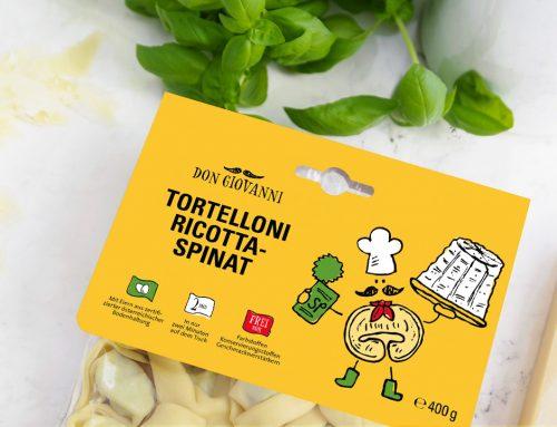 Freche Nudeln: Relaunch der Verpackung für Frischteigwaren bei Karnerta.