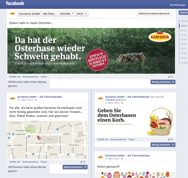 Kufferath Karnerta Ostergewinnspiel Facebook-Begleitung