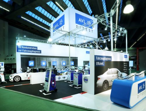 In Pole-Position: AVL DiTEST Messestand