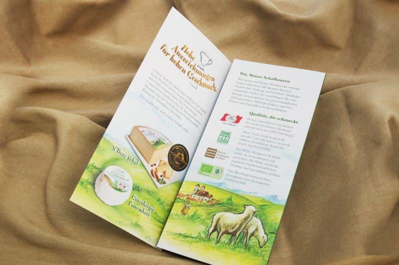 Packungsdesign für Weizer Schafbauern von Kufferath