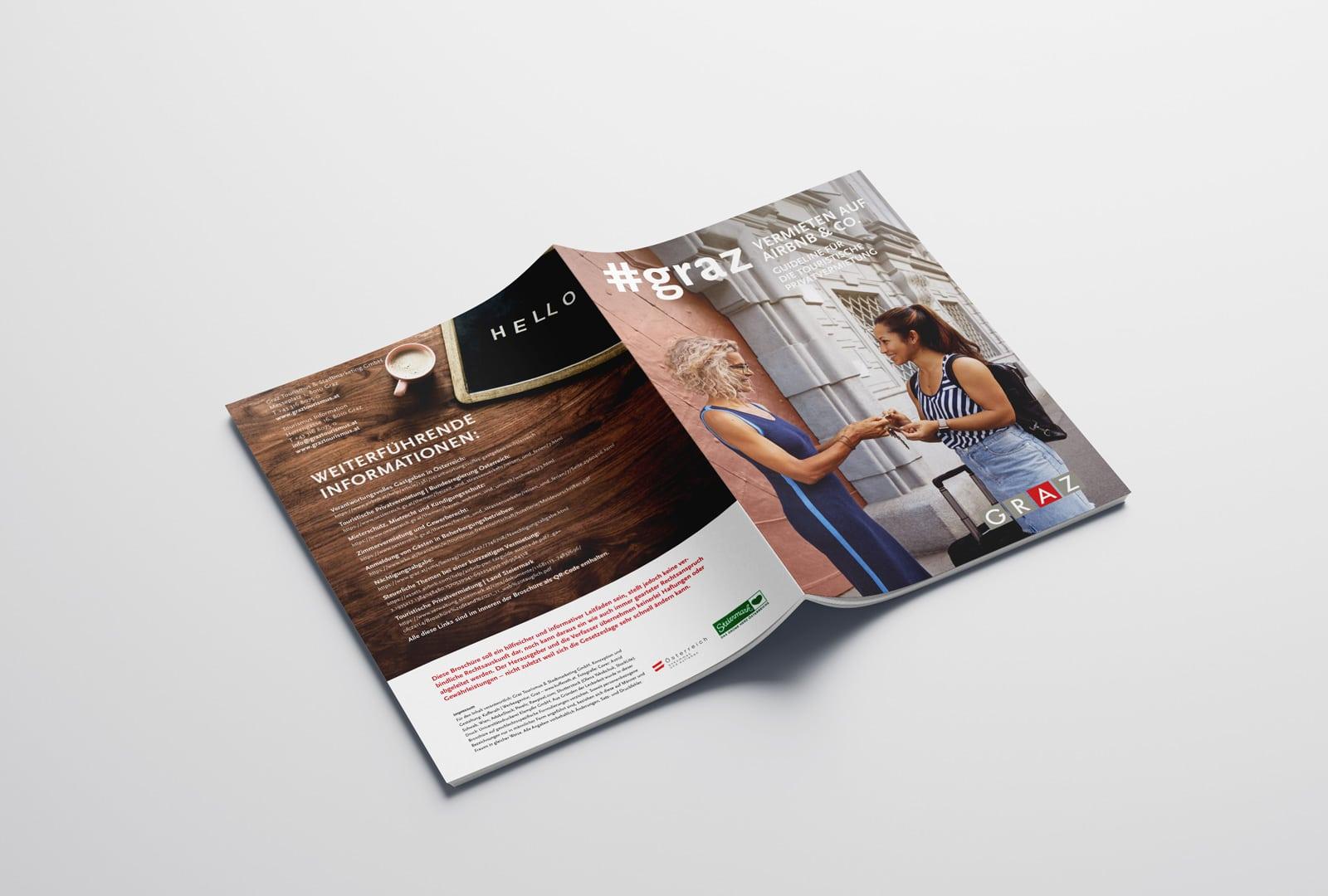Airbnb Infobroschüre Umschlag