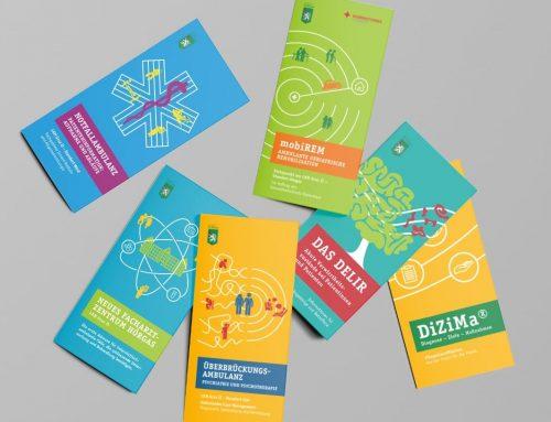 Ein Design entfaltet sich: Informationsfolder für die Steiermärkische KAGES