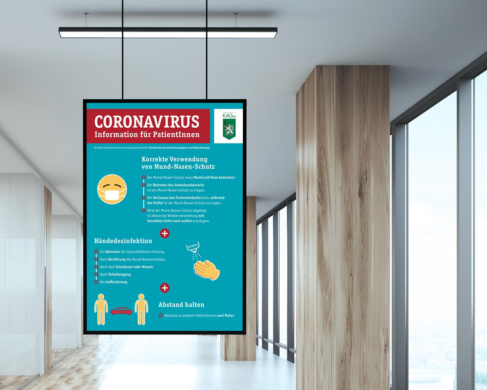 Informationsplakate Coronavirus